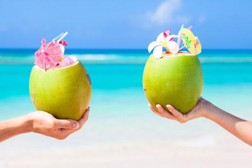 Kokosový orech - symbol raja