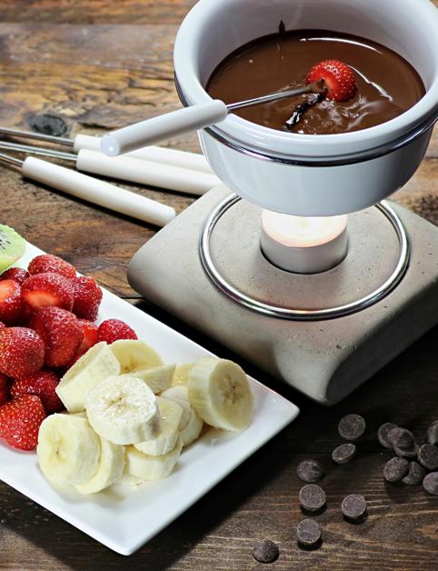 Čokoládové espresso fondue