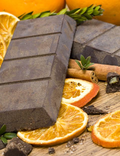 Čokoládovo-pomarančové fondue