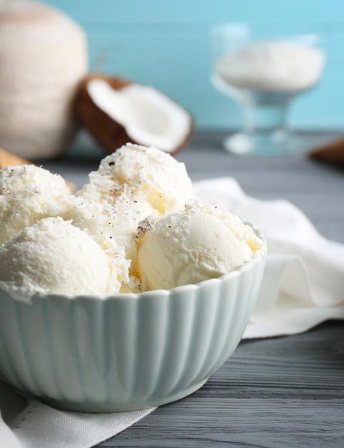 Kokosové gelato