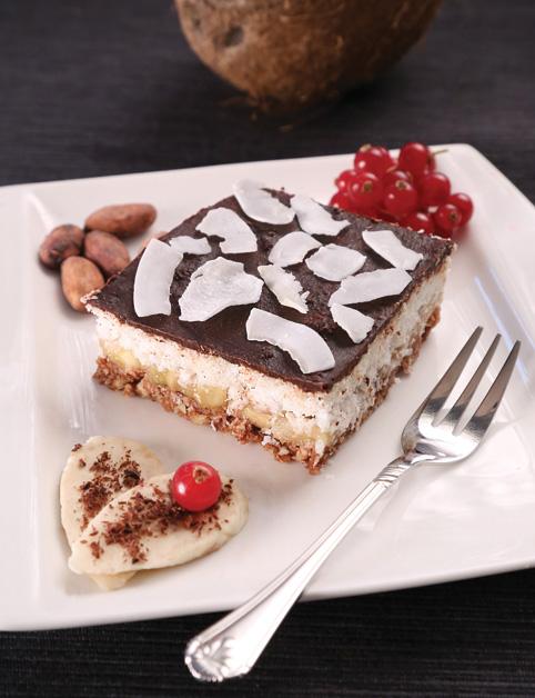 Kokosovo-banánová torta s čokoládou