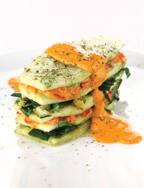 Špenátovo-paradajkové lasagne