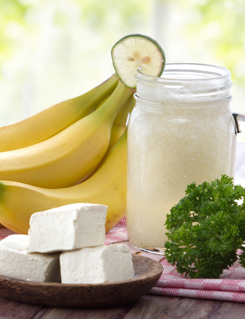 Smoothie banán a tofu