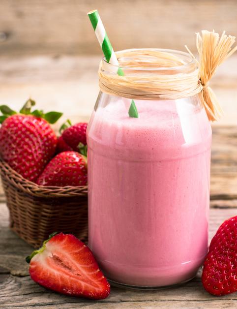Trojnásobné jahodové smoothie