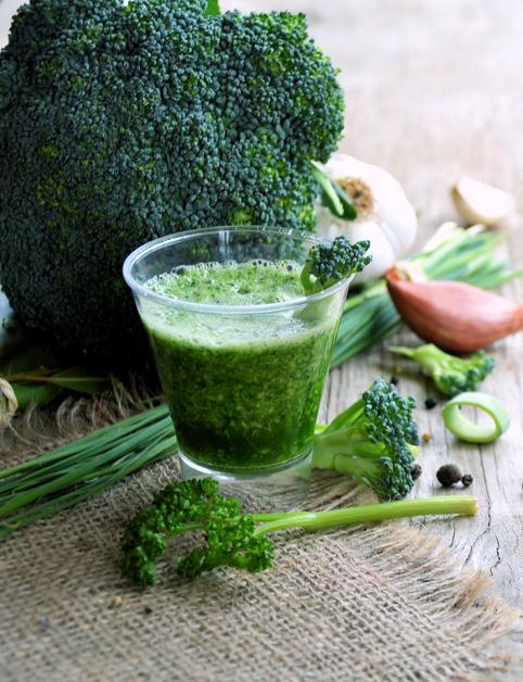 Zelený zeleninový koktail